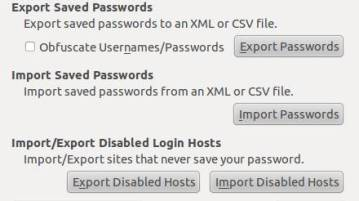 Export all stored Firefox passwords and save them as XML, CSV