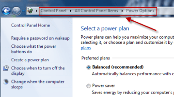 How to disable Auto Sleep mode in Windows 7 1