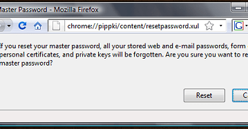 Reset / Recover Firefox Master Password 7