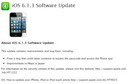 Apple iOS 6.1.3 update fixes lock-screen flaw, Jailbreakers should stay away 1