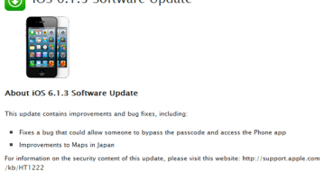 iOS 6.1.3 update - Apple iOS 6.1.3 update fixes lock-screen flaw, Jailbreakers should stay away