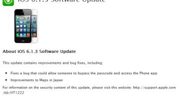 Apple iOS 6.1.3 update fixes lock-screen flaw, Jailbreakers should stay away 7