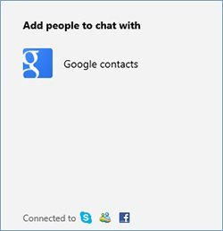 Connect Google with outlook - Chat with Gmail friends, contacts on Outlook.com, Skydrive