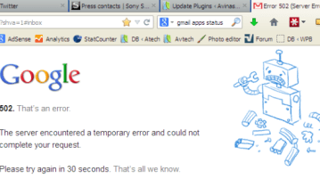 Gmail Down partially? Works in chrome but not in Firefox? 9
