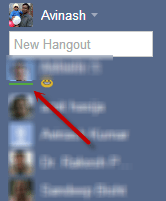 Google+ Hangouts: How to identify Online friends 4