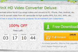 Giveaway : WinX HD Video Converter Deluxe unlimited license key 2