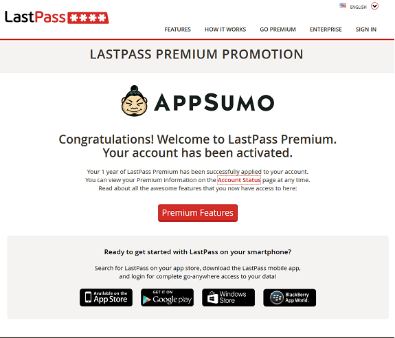 LastPass AppSumo Promo Success