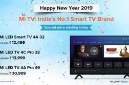 Xiaomi Mi TV 4A, Mi TV 4C Pro, and Mi LED TV 4A Pro Prices slashed in India 1