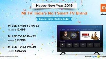 Xiaomi Mi TV 4A, Mi TV 4C Pro, and Mi LED TV 4A Pro Prices slashed in India 1