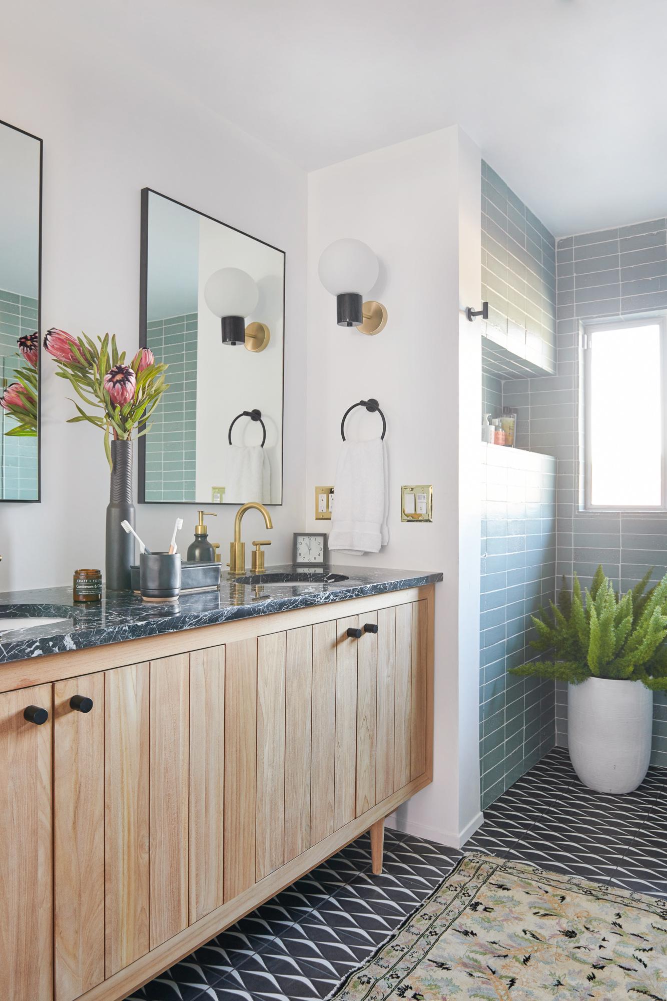 mid century modern bathroom renovation