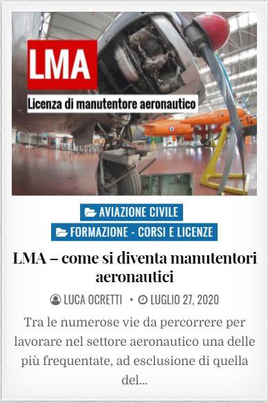 LMA licenza di manutentore aeronautico
