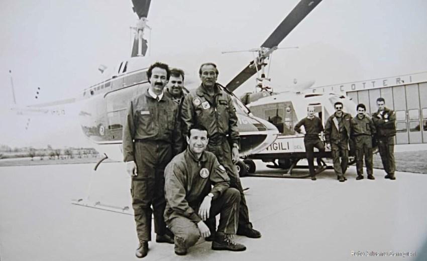 Foto elicottero dei Vigili del Fuoco Venezia