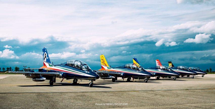 Foto Frecce Tricolori con nuova livrea realizzata da Mirco Pecorari di Aircraft Studio Design