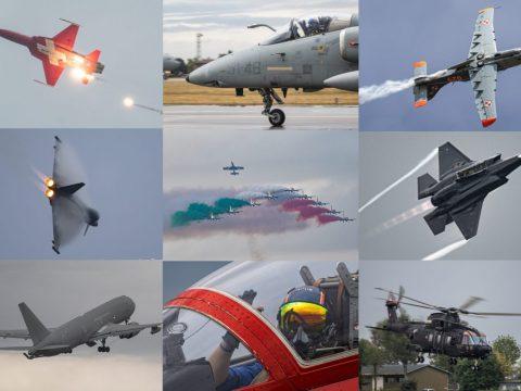 Pattuglie e aerei partecipanti al 60esimo anniversario delle Frecce Tricolori