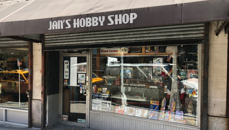 Visitando Jan's Hobby Shop en Nueva York!