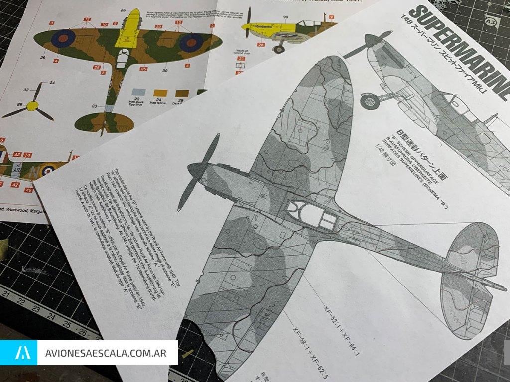 Spitfire Mk1 Aviones a Escala Airfix