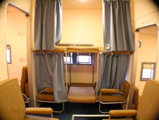 Les couchettes passagers