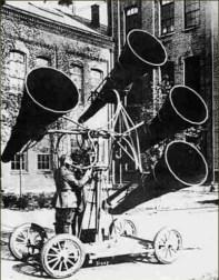 Détecteur acoustique - Quatre cornets - Mobile - WWI
