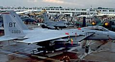 Chasseurs américains F-15 F-16
