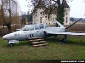 Fouga CM-170 Magister devant le Chateau de Savigny-lès-Beaune