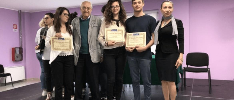 1° concorso Avis-Scuola a Corigliano: premiazione