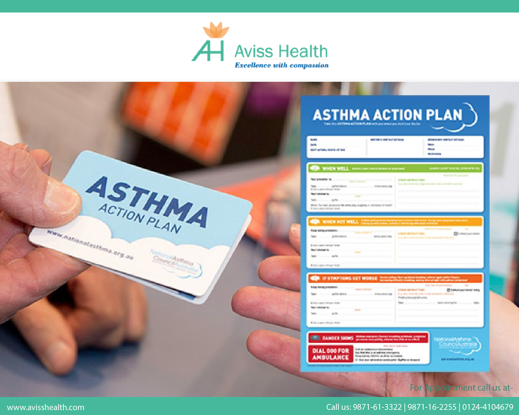 "Why should asthma patients maintain a ""written action plan?"""