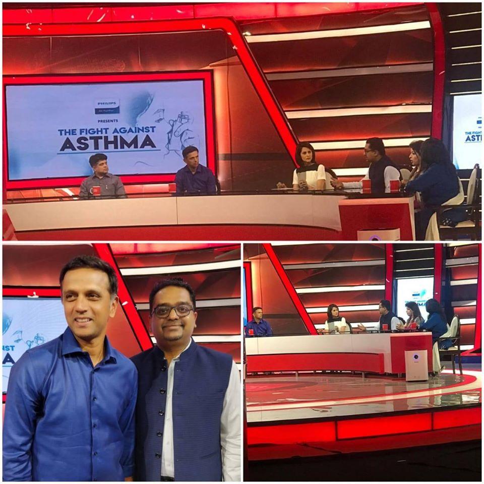 dr himanshu garg with rahul dravid at india today news