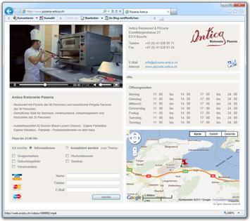 Landing Page Restaurant Antica