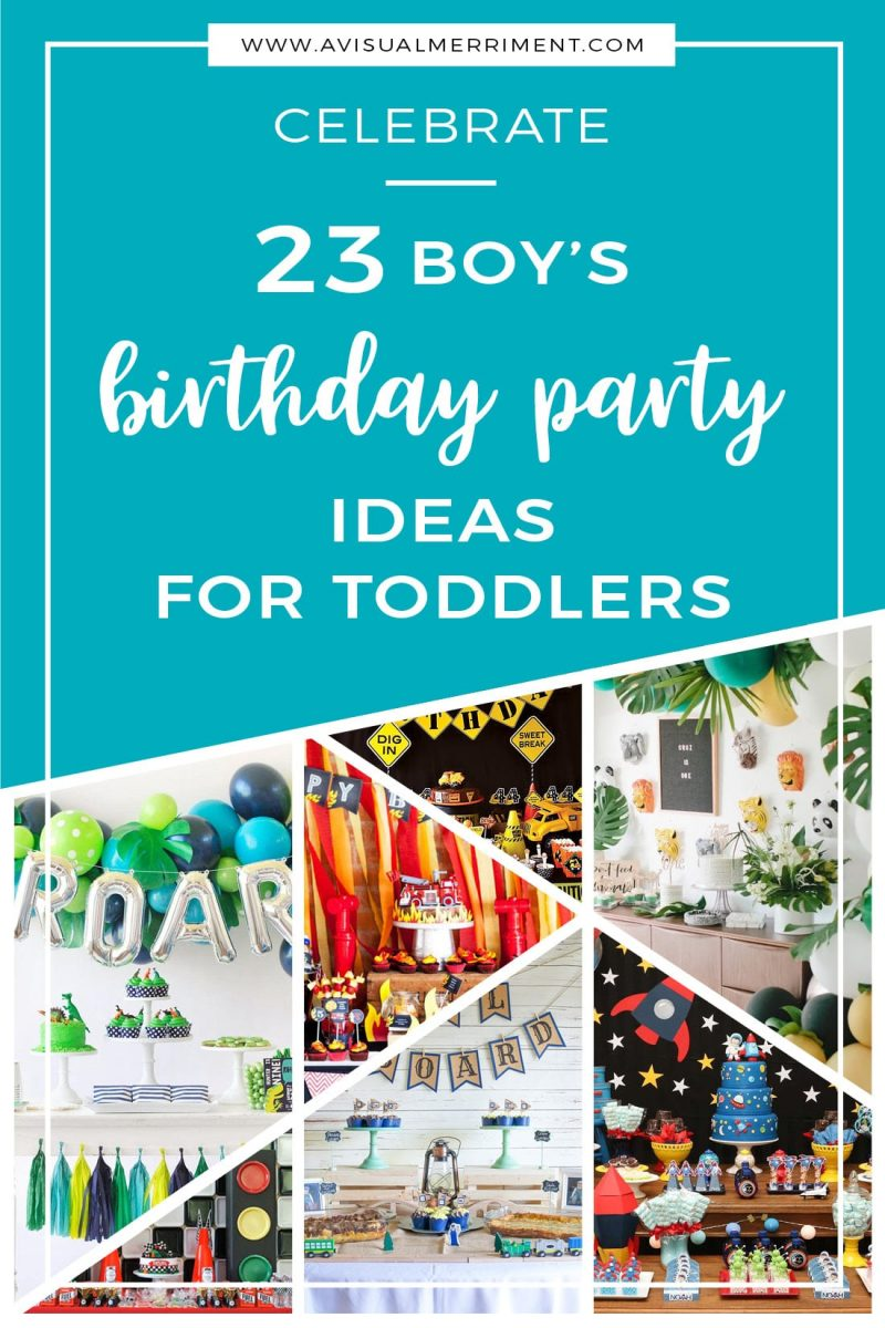23 boys birthday party ideas for toddlers diagonal collage