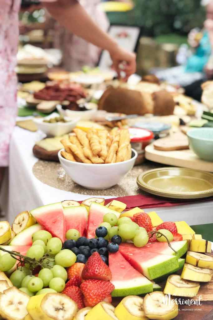 fruit platter and grazing table