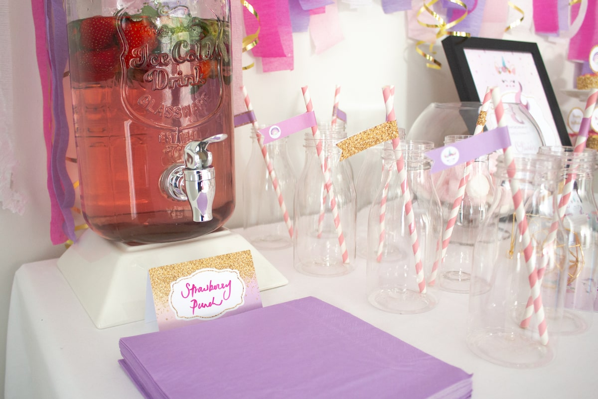 Unicorn party drinks and punch