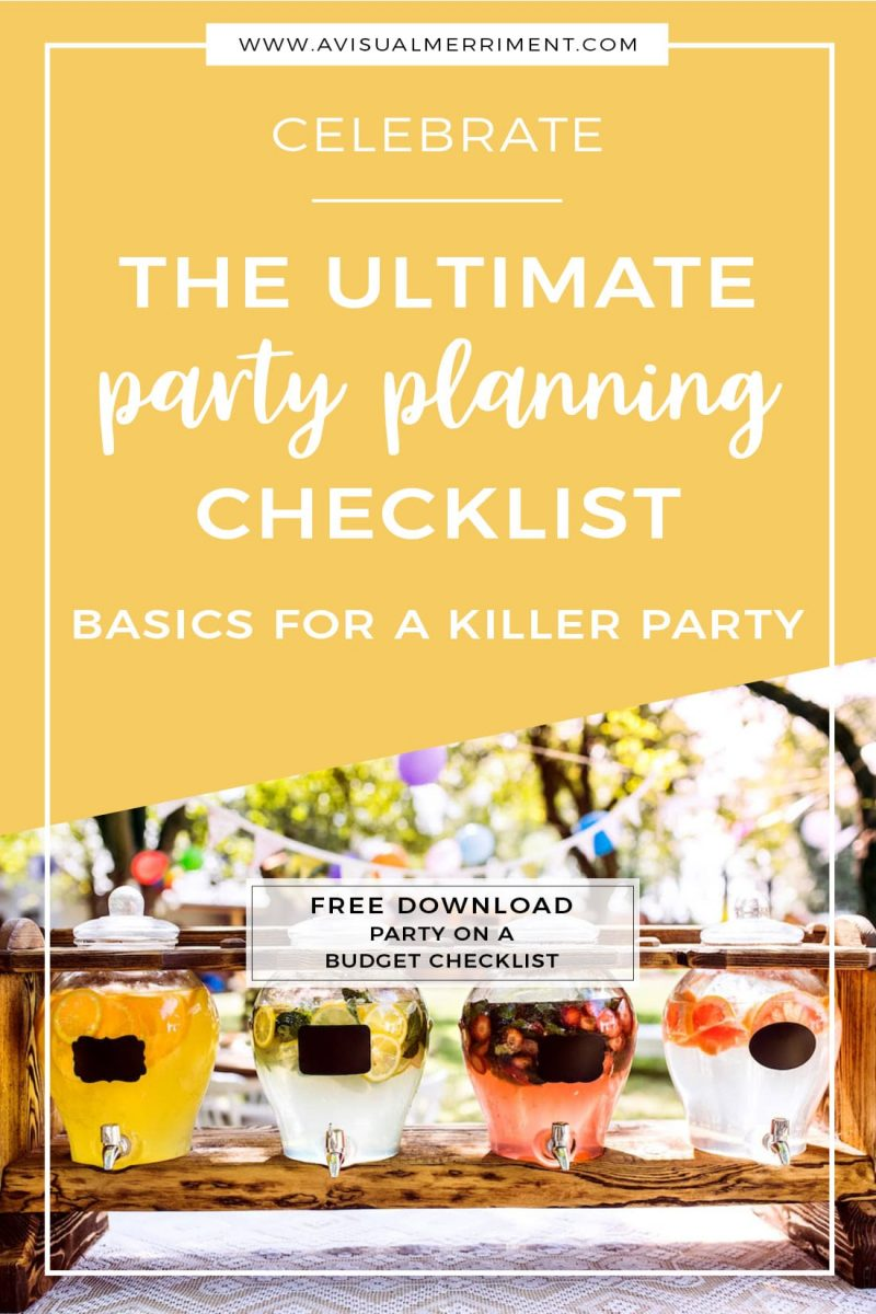 How to throw the ultimate party with this planning checklist
