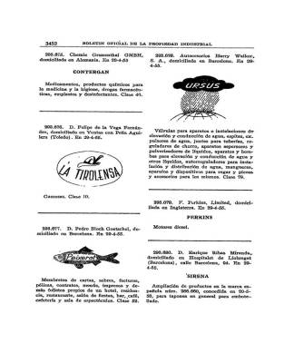 PATENTE 1955 CONTERGAN TALIDOMIDA GRÜNENTHAL GRÜNENTHAL