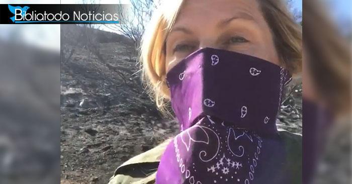 Gran incendio se detiene cuando actriz cristiana ora Salmo 91 frente a su casa
