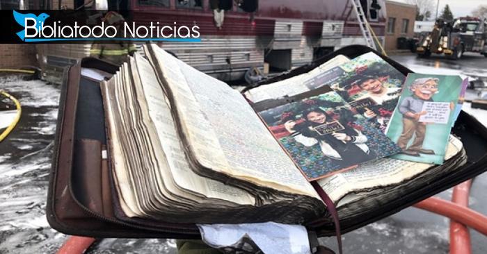 Biblia deja asombroso mensaje a banda cristiana luego de un incendio