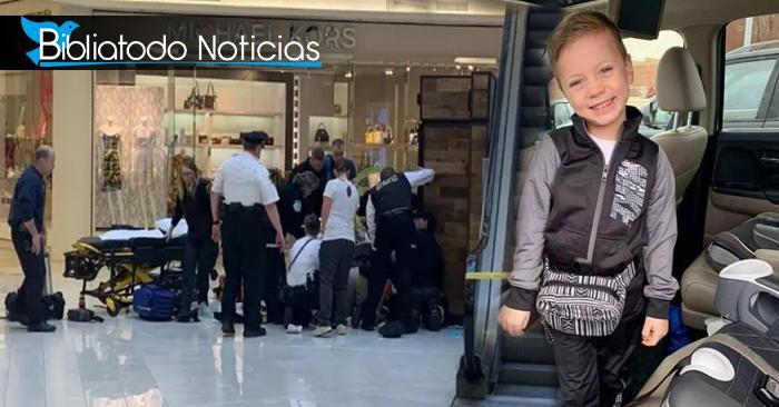 Niño es recibe milagro de Dios después de ser lanzado del tercer piso de un centro comercial