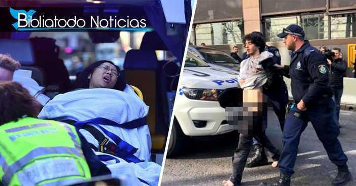 """""""DIOS ES GENIAL"""": Gritaba un hombre con un cuchillo para apuñalar a personas en la calle"""