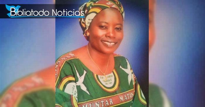 Esther Ishaku Katung la esposa del pastor Ishaku Katung, quien fue secuestrada y asesinada por un grupo de extremistas Fulani