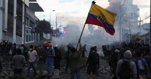 Foto de las protestas en Ecuador