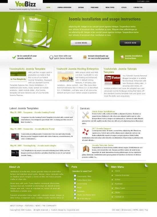 youbizz youjoomla templates 550x760 - Youbizz - Business Joomla Template