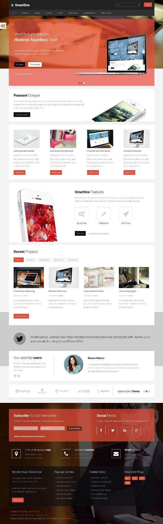 smartline youjoomla business - Smartline Joomla Template