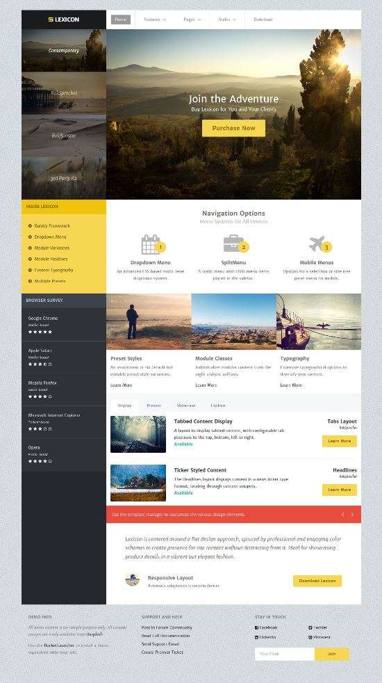 lexicon rockettheme photo - Lexicon Joomla Template