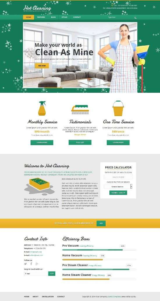 hot cleaning joomla avjthemescom 01 - Hot Cleaning Joomla Template
