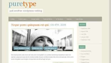 puretype 1 avjthemescom - PureType : Wordpress Theme