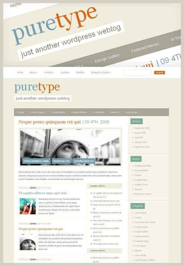 puretype 1 avjthemescom - PureType : Wordpress Theme