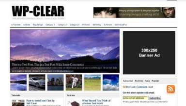 wp clear avjthemescom - WP-Clear Wordpress Theme