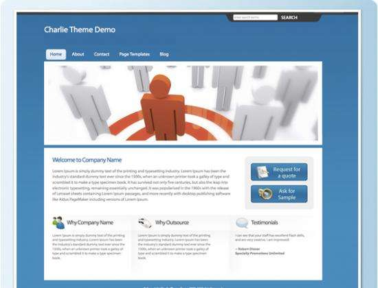charlie avjthemescom ithemes - Charlie Web 2.0 Wordpress Theme