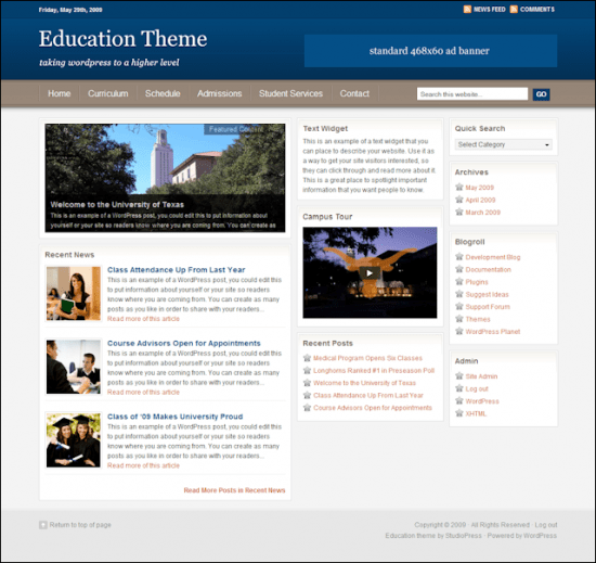education avjthemescom studiopress - Education Wordpress Theme