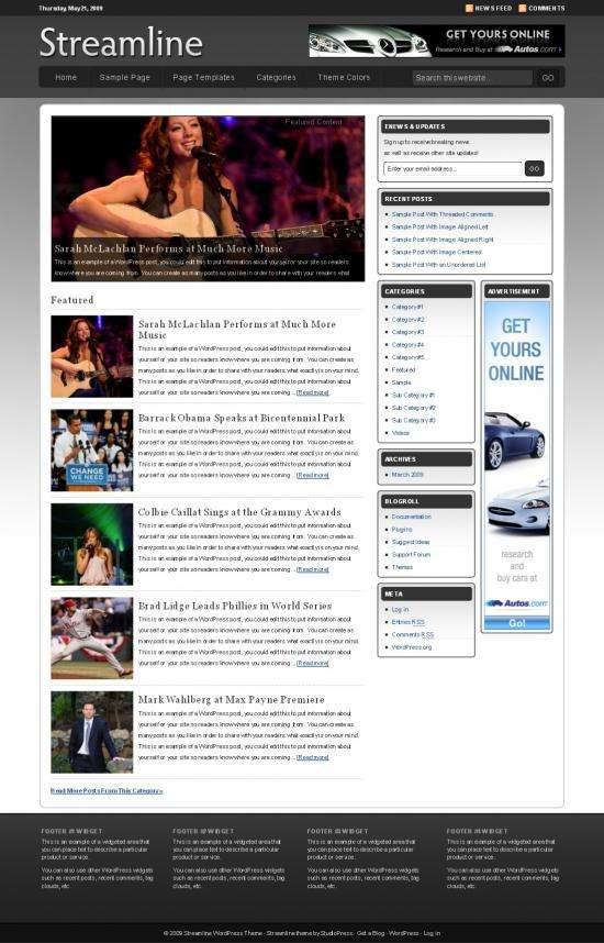 streamline wordpress theme - Streamline 2.1 Wordpress Theme