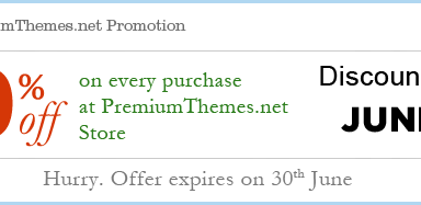 june30promo - Special 30% discount from Premium Themes